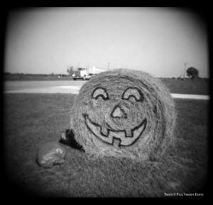 Halloween Hay - near Shiner TX  7-1999