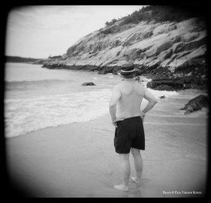 Man on beach - Acadia National Park  7-1999