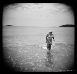 Woman in water - Acadia National Park  7-1999